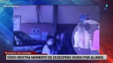 Vídeo mostra momento de desespero vivido por alunos em tragédia de Goiânia