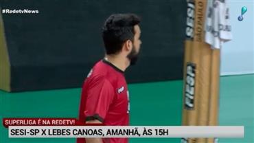 Superliga: RedeTV! transmite no sábado (19) Sesi-SP e Lebes Canoas
