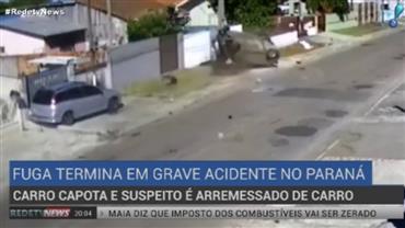 Perseguição policial termina em acidente no Paraná