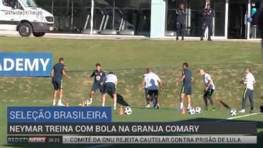 Neymar treina com jogadores na Granja Comary