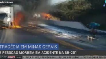 Polícia investiga causa de acidente em rodovia de MG que deixou 8 mortos