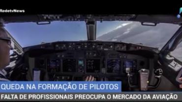 Falta de pilotos preocupa o mercado de aviação
