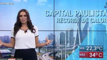 Capital paulista registra recorde de calor na madrugada deste domingo (16)