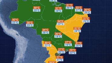 Previsão do Tempo - São Paulo terá máxima de 27 graus na sexta-feira (13)