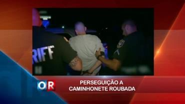 Homem é preso com carro roubado após perseguição