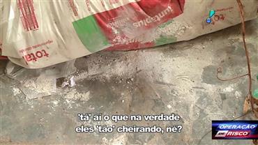 PM encontra cal que é misturada à cocaína em morro do RJ