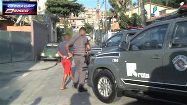 Rota enquadra criminoso em ação contra o tráfico de drogas em SP