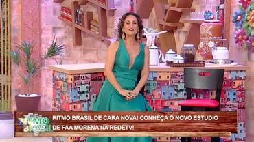 Faa Morena apresenta novo cenário do Ritmo Brasil