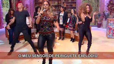 """Valesca anima o palco do Ritmo Brasil com """"Beijinho no Ombro"""""""