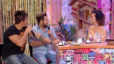 """Hugo e Tiago fazem Faa Morena chorar com """"pegadinha"""""""