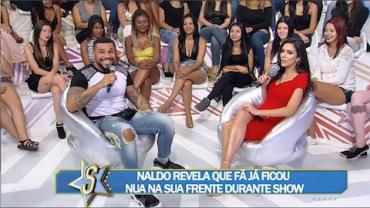 Naldo diz que teve crise de riso ao ver fã ficar nua em show