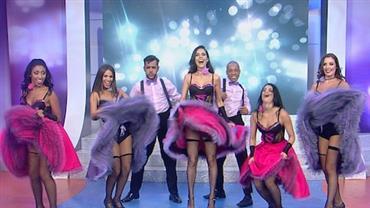 Daniela Albuquerque inicia Sensacional no ritmo do cancan