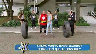 Homem mais forte do Brasil aceita desafio de Daniela Albuquerque