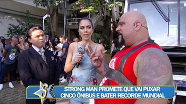 Homem mais forte do Brasil revela planos para bater um recorde mundial