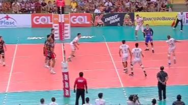 Veja a 2ª parte da vitória do Brasil Kirin por 3 sets a 1 sobre o JF Vôlei