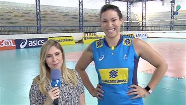 Tandara se prepara para destaque na seleção brasileira