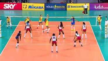 Assista aos dois últimos sets de Brasil 3 x 1 República Dominicana