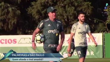 Palmeiras x São Paulo: quem afunda o rival amanhã?