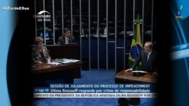 Dilma responde perguntas de senadores