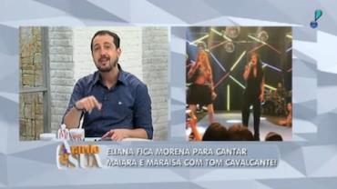 Eliana fica Morena para cantar com Tom Cavalcante