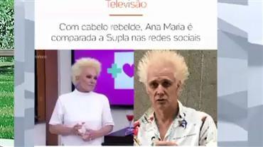 Ana Maria Braga é comparada com Supla nas redes sociais