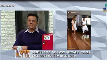 Sabrina Sato visita mansão de Neymar em Barcelona