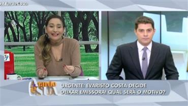 """""""Achei de mais essa repercussão', dispara Sonia Abrão sobre Evaristo Costa"""