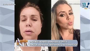 Renata Banhara faz tratamento alternativo contra grave infecção