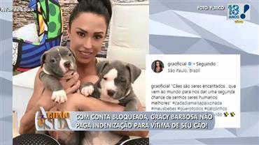Gracyanne Barbosa tem conta bloqueada por não pagar indenização
