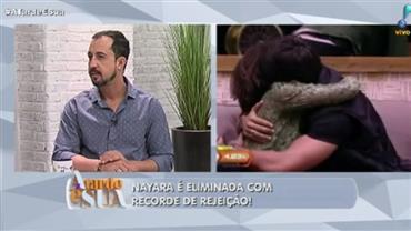 """""""Respeita"""", diz Thiago Rocha a eliminada que deu patada em Ana Maria Braga"""