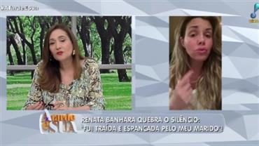 """""""Ele me induziu ao suicídio, mandou pular e ser feliz"""", diz Renata Banhara"""
