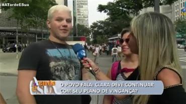Novela: Público opina se Clara deve continuar com plano de vingança