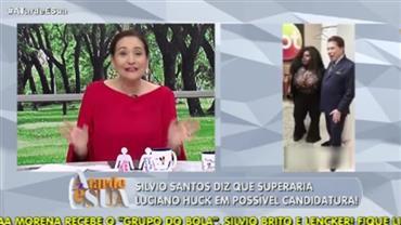 """Sonia Abrão sobre Silvio Santos vencer Huck: """"Não resta dúvida"""""""