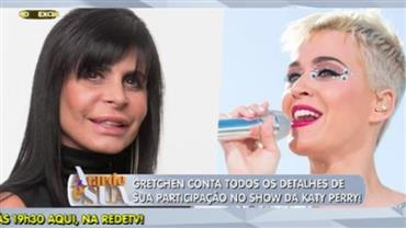 Exclusivo: Gretchen conta detalhes sobre participação no show de Katy Perry