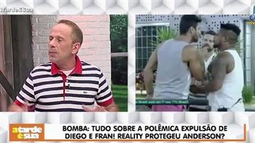 """Rafael Ilha diz que Diego foi """"inocente"""" e critica Anderson em reality"""