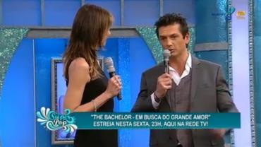 Luciana Gimenez apresenta o solteiro cobi�ado do 'The Bachelor'