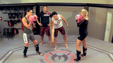 Candidatas 'encaram' encontro em academia de MMA (2)