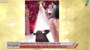 Tá Sabendo mostra tudo do casamento de Marina Ruy Barbosa