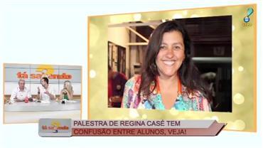 Palestra de Regina Casé causa tumulto em universidade de Salvador