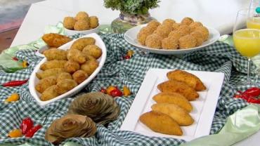 Bolinho de batata doce: receita leva recheio de calabresa