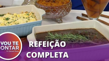Aprenda a fazer carne de panela, mandioca gratinada e pavê paulista