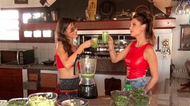 Júlia Pereira e modelo vegana dão dica de suco detox