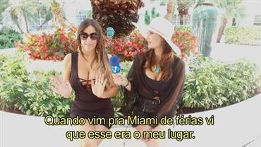 Júlia Pereira conversa com musa do Milan em Miami