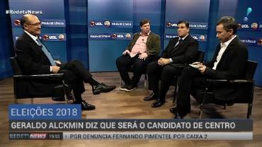 Alckmin diz que será candidato de centro nas eleições