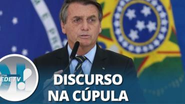 Em discurso, Bolsonaro promete fim das emissões de gases de efeito estufa