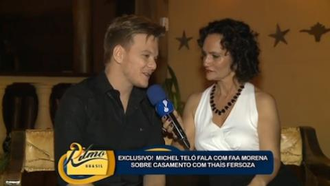 Michel Tel� diz que casamento com Tha�s Fersoza 'era s� para galerinha'