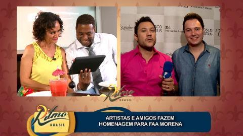 Faa Morena recebe mensagem especial de Jo�o Bosco e Vin�cius