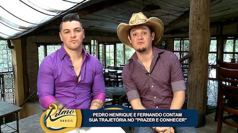 Pedro Henrique e Fernando contam sua trajet�ria no 'Prazer em conhecer'