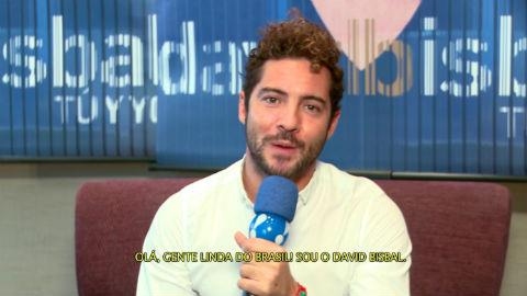 Cantor espanhol David Bisbal manda recado para os brasileiros