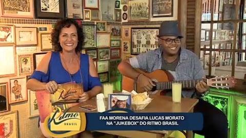 Faa Morena desafia Lucas Morato na 'Jukebox' do Ritmo Brasil